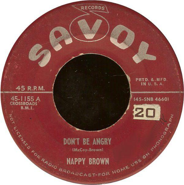 Nappy Brown DON'T BE ANGRY CD